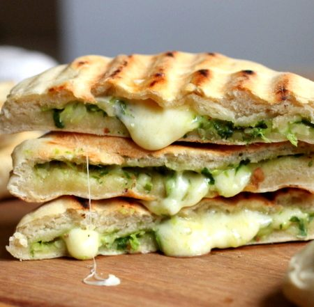 50.Cheese and Spinach Naan