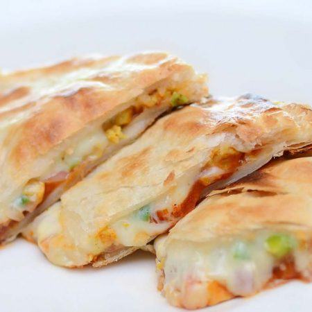 52.Chicken and cheese Naan